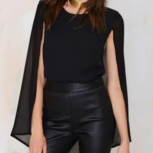 Nasty Gal Cape Shirt Size Small